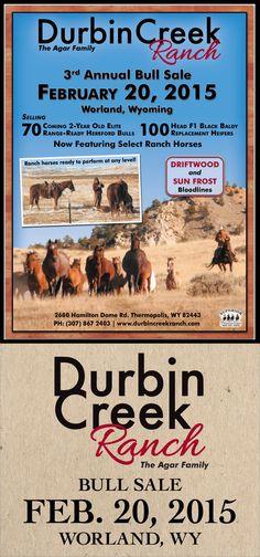 Durbin Creek Ranch - 3rd Annual Bull Sale - Feb. 20, 2015