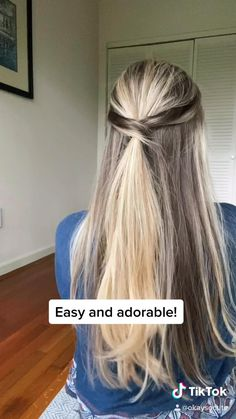 Easy Hairstyle Video, Easy Hairstyles For Long Hair, Twist Hairstyles, Pretty Hairstyles, Short Hair Bun, Hairstyles Videos, Boys Long Hair Cuts, Oily Hair Hairstyles, Hair Half Up Half Down