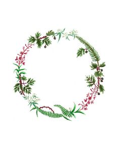 Olympic Peninsula Wreath Print