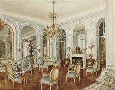 Alexandre Serebriakoff (1907-1994) Salon Bleu, Hôtel Rodocanachi