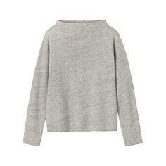 Buy Toast Feltback Sweater, Light Grey Melange Online at johnlewis.com