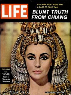 Life Magazine Cover with Elizabeth Taylor as Cleopatra - Oct 6 1961 by CharmaineZoe, via Flickr