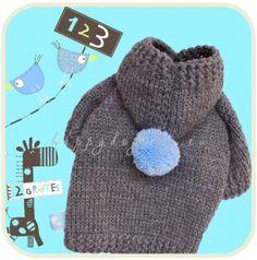 Knitted dog clothes Pom Pom
