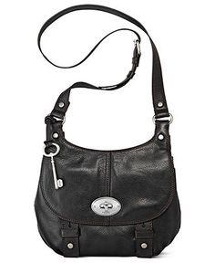 Fossil Handbag, Maddox Leather Flap Crossbody - Fossil - Handbags & Accessories - Macy's