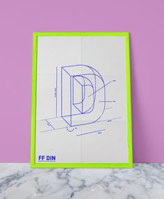 FF DIN - Promotional Poster by Celeste Watson, via Behance