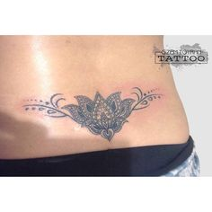 mandala minimal flower tattoo