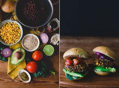 Zwarte bonenburgers made vegan. Vegan burgers met een Mexicaans tintje!