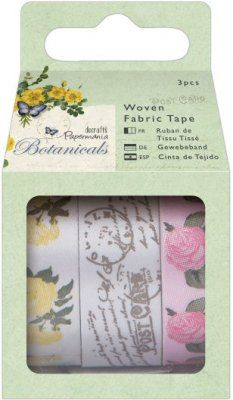 Docrafts+1m+Woven+Fabric+Tape+-+Botanicals+(3+pieces)