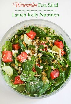 Watermelon Feta Salad with Mint Balsamic Dressing @peapoddelivers