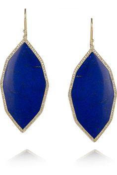 "Ippolita ""Rock Candy"" 18-karat gold lapis lazuli and diamond earrings.    My favorite ""semi-precious"" stone (I am a huge Ippolita fan!) ... anyone have an extra 4k around?"