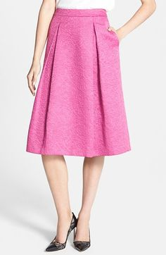 Free shipping and returns on Chelsea28 Full Pleat Skirt at Nordstrom.com. Floral jacquard embroidery and sharp full-length pleats style a midi skirt cut in a classic A-line shape.