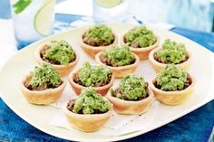 Mini lamb pies with smashed peas