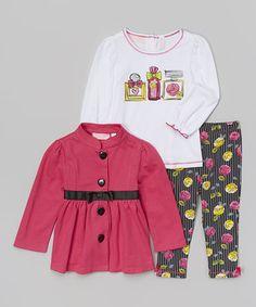 Fuchsia Swing Coat Set - Infant, Toddler & Girls