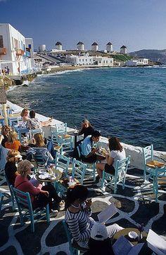 The beautiful Greek islands - Mykonos.