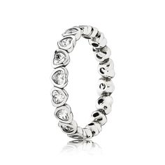 Discover Pandora's Linked Love Ring in sterling silver. Shop your Pandora Stackable Rings here. Charms Pandora, Pandora Bracelets, Pandora Jewelry, Pandora Rings Stacked, Pandora Sterling Silver Rings, Cheap Pandora, Pandora Outlet, Love Ring, Stackable Rings