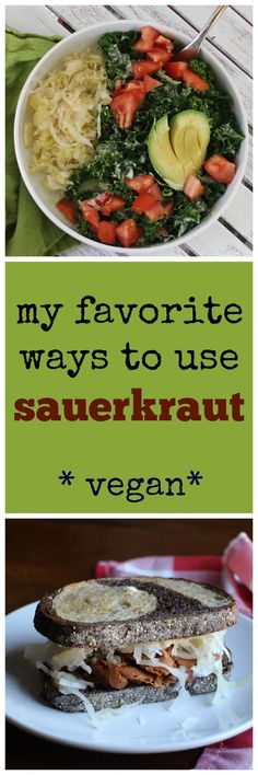 Sauerkraut is so good for you! It's high in vitamin C & packed with probiotics. Here are my favorite ways to use it! (All vegan!)   cadryskitchen.com