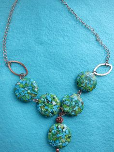 Cracked Earth Necklace by FleasKnees on Etsy, $20.00
