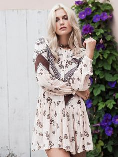 Free People From Your Heart Printed Mini Dress at Free People Clothing Boutique