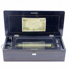 19世紀 の 細工 イナリ の オルゴール 19th Century Music Box With Marquetry Inaly