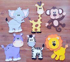 Kids Crafts, Preschool Crafts, Felt Crafts, Felt Animal Patterns, Stuffed Animal Patterns, Safari Animal Crafts, Christmas Classroom Door, Jungle Decorations, Marianne Design Cards