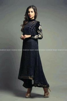 Elan Couture- need this, good for winter too Pakistani Couture, Indian Couture, Pakistani Outfits, Indian Outfits, Ethnic Fashion, Asian Fashion, Eastern Dresses, Middle Eastern Fashion, Desi Wear