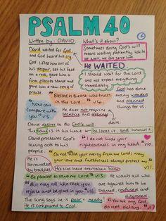 Psalm 40 bible journaling bible study