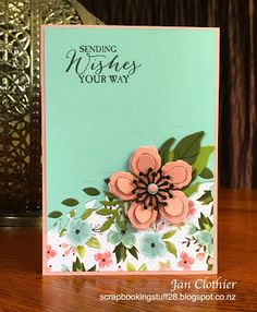 Scrapbooking Stuff: Just Add Ink 294. Botanical Builders & Birthday Bouquet DSP by Jan Clothier.