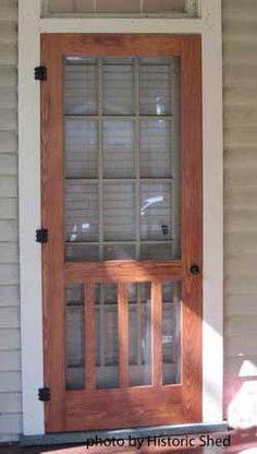 front porch screen door wood screen door for a historic bungalow in heights front porch screen doors Front Door With Screen, Wood Screen Door, Wooden Screen, Porch Doors, House Doors, Up House, Old Doors, Back Doors, Vintage Screen Doors