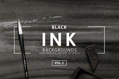 Black Ink Backgrounds Vol. 2 ~ Textures on Creative Market
