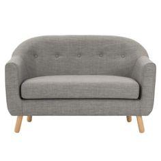 Lottie, canapé 2 places, gris craie | MADE.com Deco Studio, Antique Sofa, Banquette Seating, Small Sofa, 3 Seater Sofa, Sofa Design, Interior Design, Designer, Love Seat