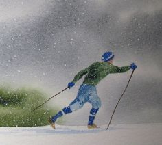 Cross Country Skiing through the Winter Wilderness via Etsy