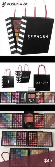 """SEPHORA Makeup Pallette SEPHORA Makeup Palette. Used some colors but mostly untouched. Missing few pencils. Pls see photos. Box Dimensions : 6"""" x 6"""" x 2.75""""  ~❌SWAP❌TRADE ~ ✔️❤️Bundles📦💕 ~✔️Smoke-free/pet-free home Sephora Makeup Eyeshadow"""