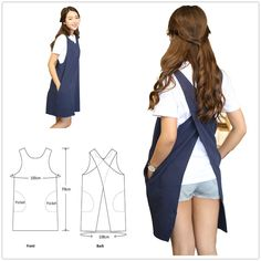 AOBBYBBS Soft Cotton Linen Apron Solid Color Halter Cross Bandage Aprons Japanese Style X Shape Double Pockets Kitchen Cooking Clothes Gift for Women Chef Housewarming -LightGray Sewing Aprons, Sewing Clothes, Diy Clothes, Japanese Apron, Japanese Style, Japanese House, Radium Girls, Aprons For Men, Professional Outfits