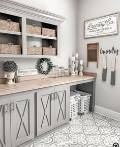 Love Joanna Gaines's style aesthetic? Flip through for homes that have that same… - Love Joanna Gaines's style aesthetic? Flip through for homes that have that same… Love Joanna Gaines's style aesthetic? Flip through for homes that have. Farmhouse Laundry Room, Country Farmhouse Decor, Modern Farmhouse Kitchens, Farmhouse Kitchen Decor, Kitchen Modern, Farmhouse Ideas, Modern Farmhouse Design, Farmhouse Kitchen Cabinets, Farmhouse Remodel