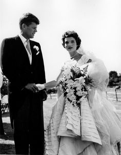 JFK And Jackie On Their Wedding Day September 12 1953