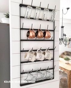 30 Awesome Small Kitchen Storage Ideas - If you're looking for a solution to meet a problem and have found this discussion by searching for that, then by all means, keep reading. You're bound. Modern Kitchen Wall Decor, Kitchen Wall Design, Kitchen Wall Art, Kitchen Walls, Kitchen Cupboards, Modern Farmhouse Kitchens, Farmhouse Style Kitchen, Farmhouse Decor, Diy Kitchens