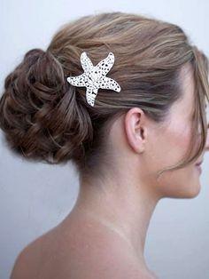 Beach Bridal Hair, Beach Hair, Beach Wedding Centerpieces, Headpiece Wedding, Boho Headpiece, Glamour, Hair Jewelry, Jewellery, Bridal Hair Accessories