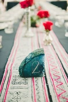 How to Throw a Rocking Geology Themed Wedding - tablenumbers