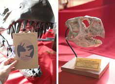 Decorations from a dinosaur-inspired museum wedding. Photos by Don Spiro