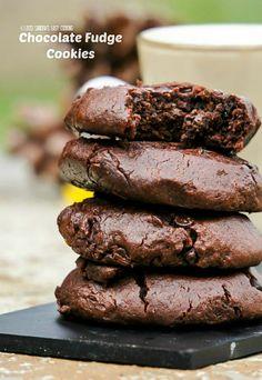 Homemade recipe for delicious Chocolate Fudge Cookies.