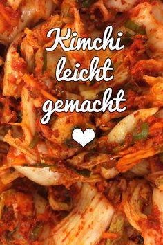 Schon mal Kimchi selbst gemacht? Ist super lecker und gar nicht so schwer. Hier ein simples Rezept. #Fermentation