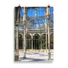 Lámina Palacio de Cristal   Cosa Bonita   Tienda de regalos Arch, Outdoor Structures, Posters, Retro, Crystal Palace, Gift Shops, Original Gifts, Palaces, Museums