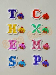Alphabet design hama perler beads by Love Cupcoonka - www.facebook.com/hamabeadshobby