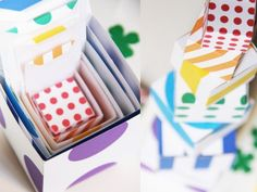 Diy Cajitas de regalo multicolores