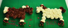 1st attempt at horse cupcake cake, I shouldn't of dropped out up that cake decorating class:(