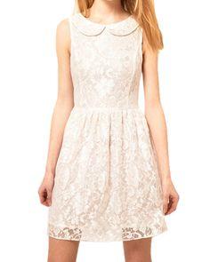 White lace Polyamide Dress / Rs.1973