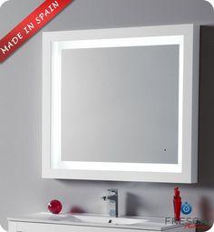 "Fresca Platinum Due 39"" Bathroom Mirror FPMR7536WH $1,087.30"