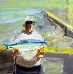 """Marshall Crossman. Beach Series #12, 2001 Oil on canvas 30 x 30"""" Retail Price: $6,500 Courtesy of the Artist and Dolby Chadwick Gallery, San Francisco  Dial (408) 213-4298 and enter 145# to listen to the artist talk about this piece.  Artist Website"""