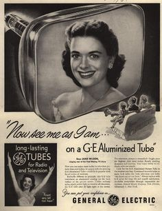 """""""Now see me as I am... on a GE Aluminized Tube"""" (Duke University  Library)"""