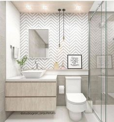 Want to refresh your small bathroom decor? Here are Cute and Best Half Bathroom Ideas That Will Impress Your Guests And Upgrade Your House. best bathroom decor 50 Half Bathroom Ideas That Will Impress Your Guests And Upgrade Your House Bathroom Layout, Modern Bathroom Design, Bathroom Interior Design, Serene Bathroom, Simple Bathroom Designs, Bath Design, Bad Inspiration, Bathroom Inspiration, Bathroom Pictures